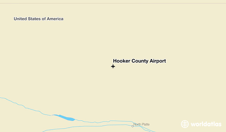 Hooker County Airport location on a map