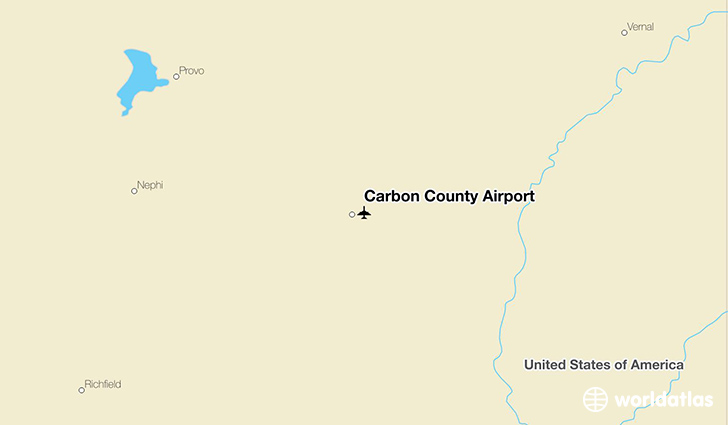 Carbon County Airport location on a map