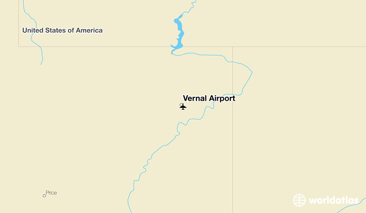 Vernal Airport location on a map