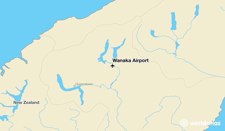 Wanaka Airport location on a map