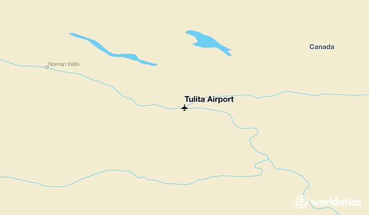 Tulita Airport location on a map