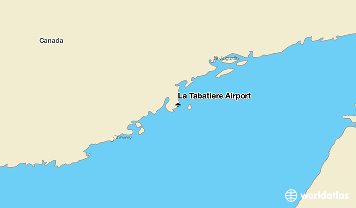 La Tabatière Airport location on a map