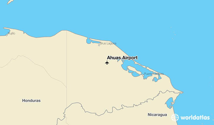Ahuas Airport location on a map