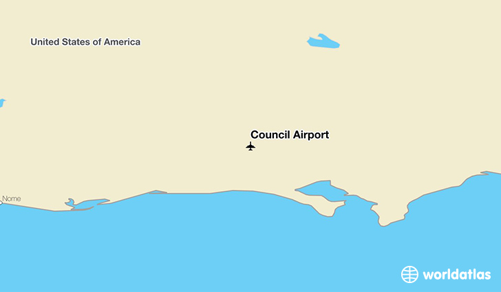 Council Airport location on a map