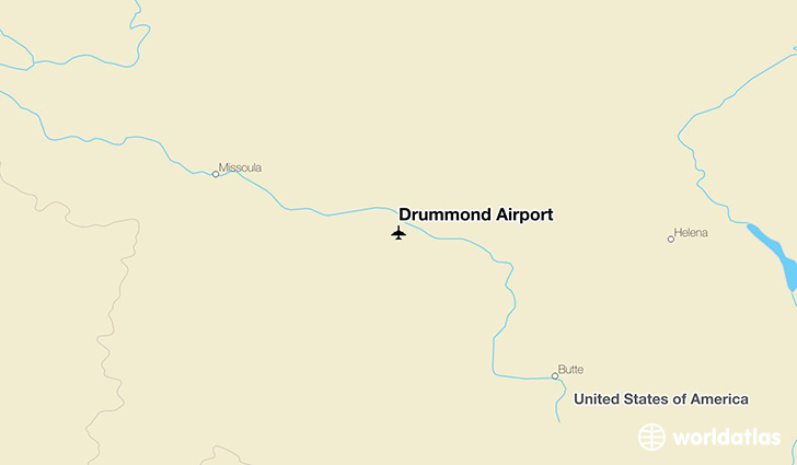 Drummond Airport location on a map