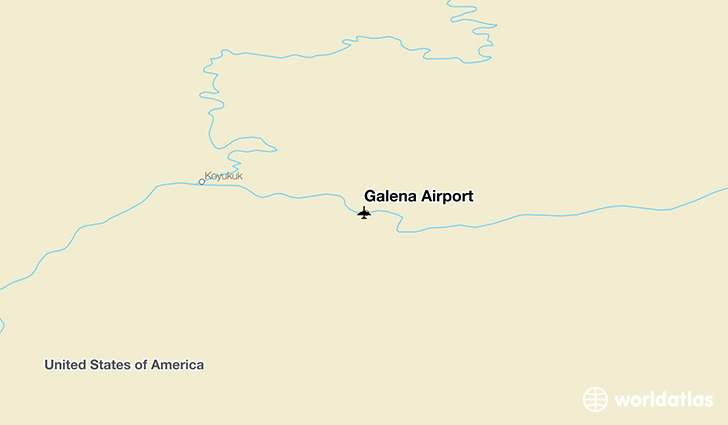 Galena Airport location on a map