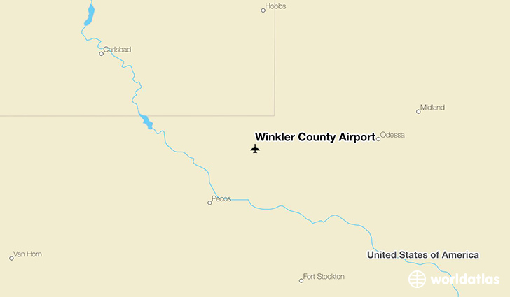 Winkler County Airport location on a map