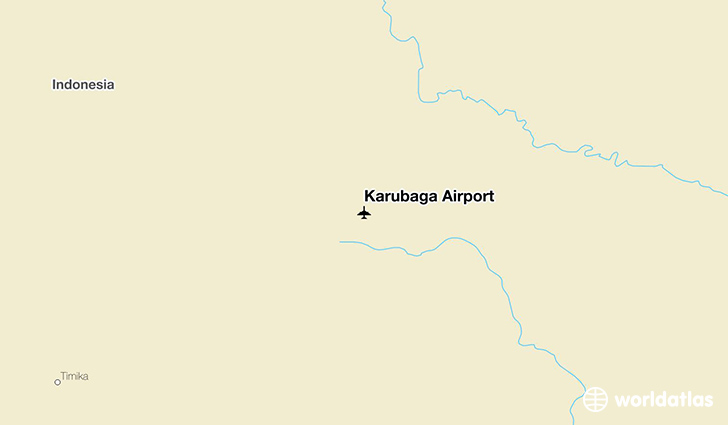 Karubaga Airport location on a map