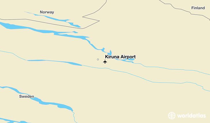 Kiruna Airport location on a map
