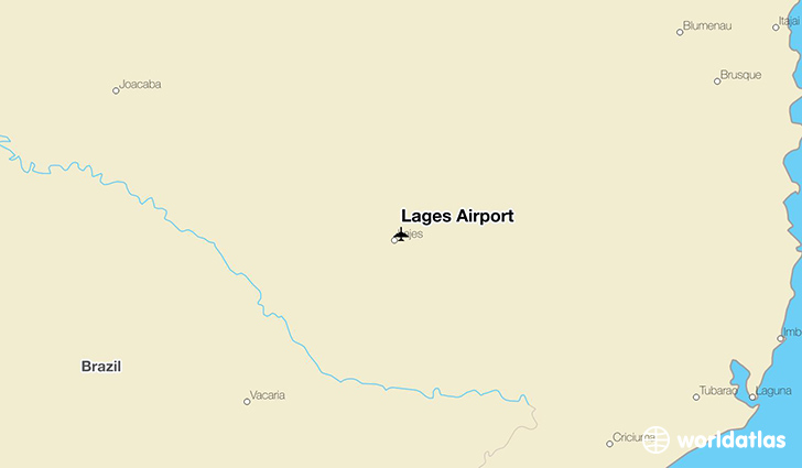 Lages Airport location on a map