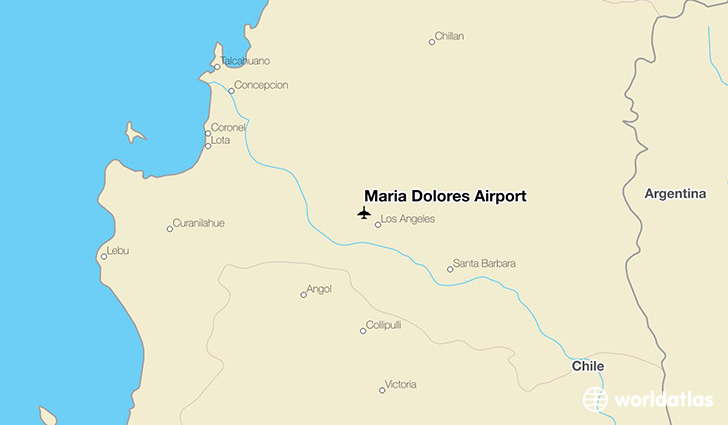 Maria Dolores Airport location on a map