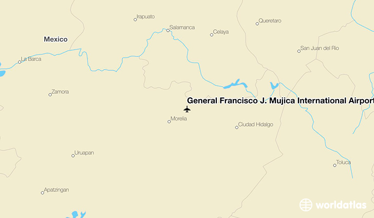 General Francisco J. Mujica International Airport location on a map