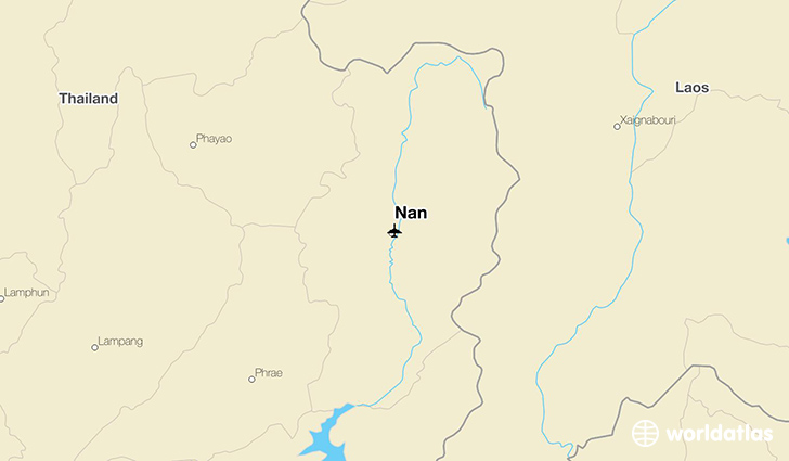 Nan location on a map