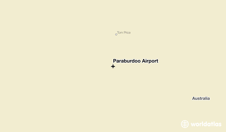 Paraburdoo Airport location on a map