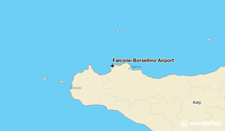 Falcone-Borsellino Airport location on a map