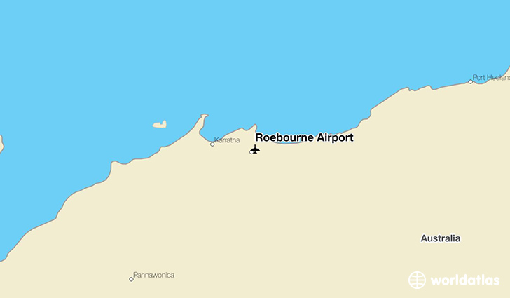 Roebourne Airport location on a map