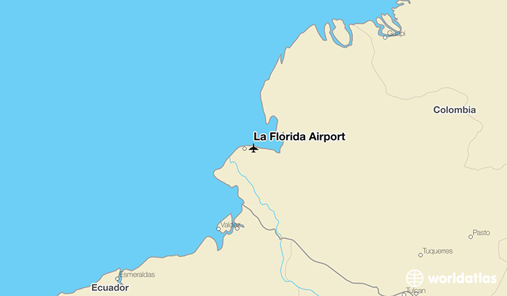 La Florida Airport location on a map