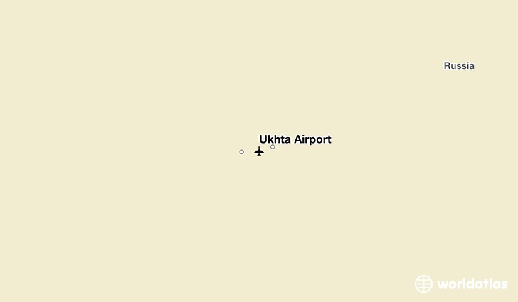 Ukhta Airport location on a map