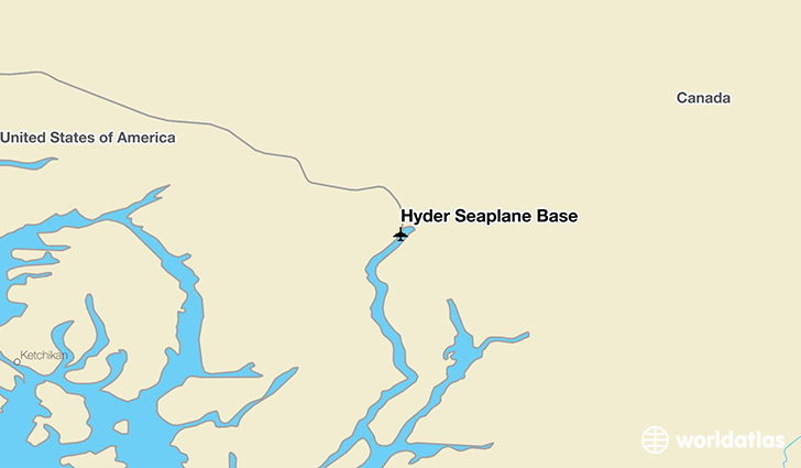Hyder Seaplane Base WHD Airport WorldAtlas