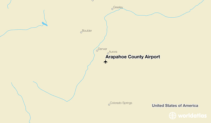Arapahoe County Airport location on a map