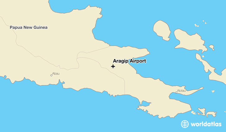 Aragip Airport location on a map