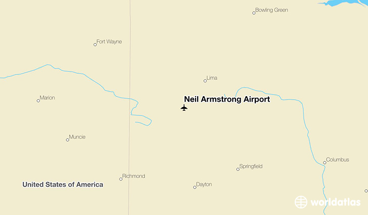 Neil Armstrong Airport location on a map