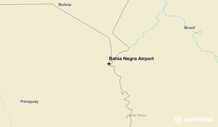 Bahía Negra Airport location on a map