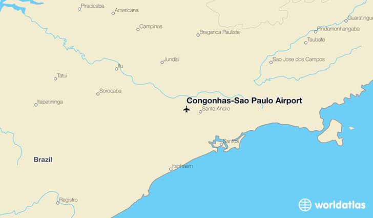 Congonhas-São Paulo Airport location on a map