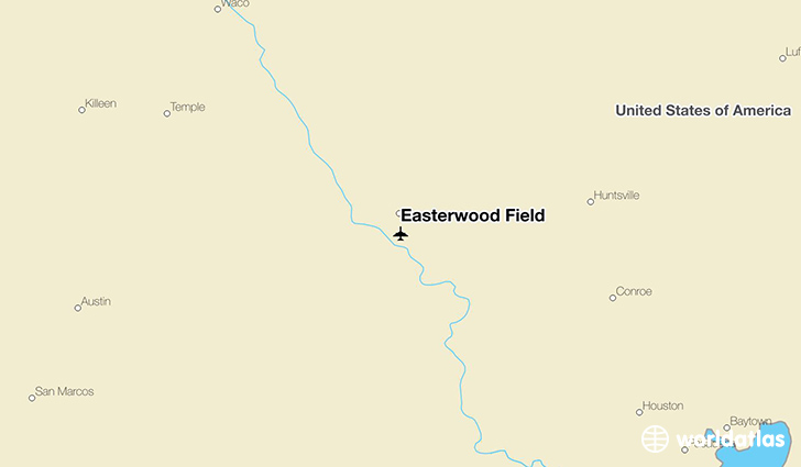 Easterwood Field location on a map