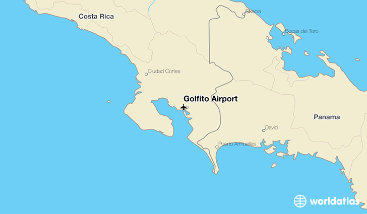 Golfito Airport location on a map