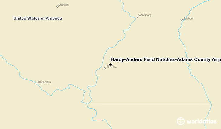 Hardy-Anders Field Natchez-Adams County Airport location on a map