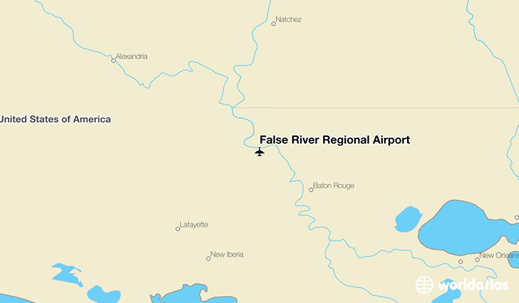 False River Regional Airport location on a map