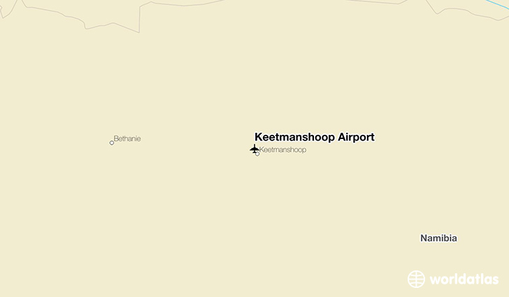 Keetmanshoop Airport location on a map