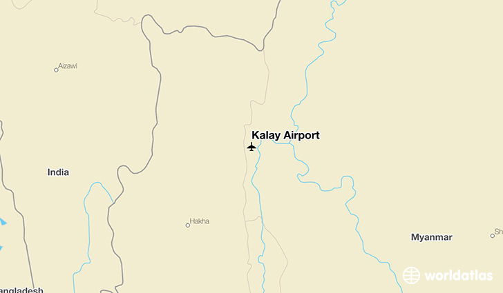 Kalay Airport location on a map