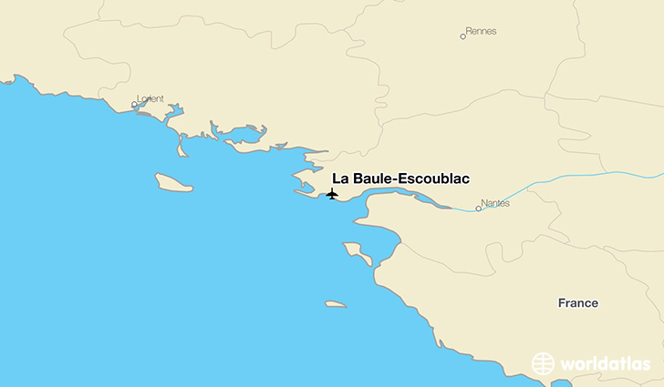 La Baule-Escoublac location on a map