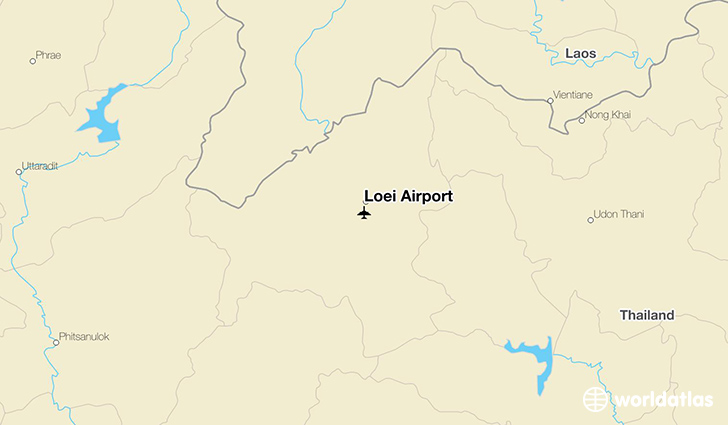 Loei Airport location on a map