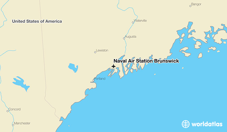 Naval Air Station Brunswick location on a map
