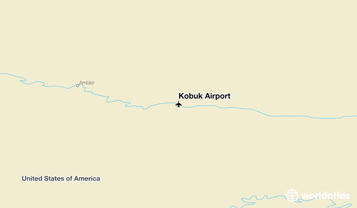 Kobuk Airport location on a map
