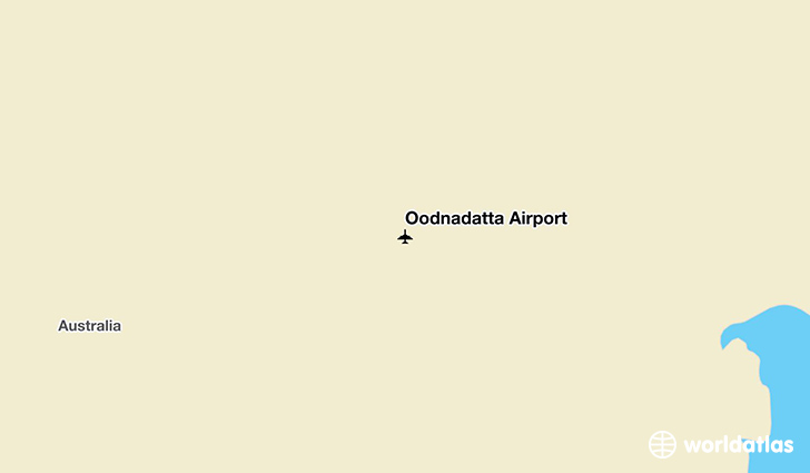 Oodnadatta Airport location on a map