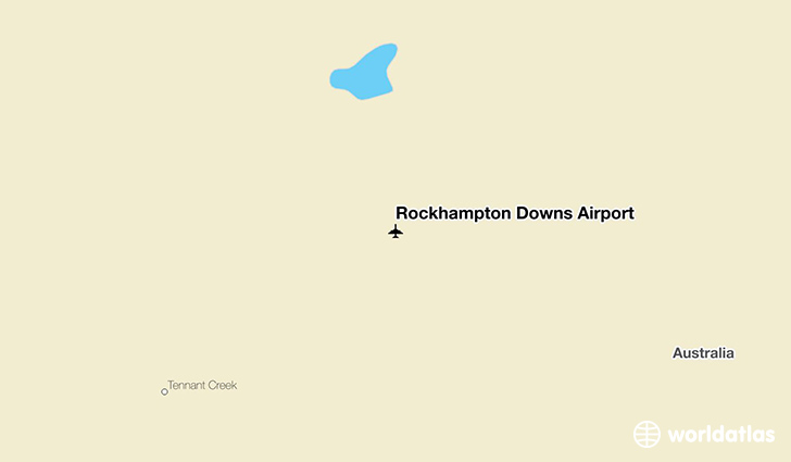 Rockhampton Downs Airport location on a map