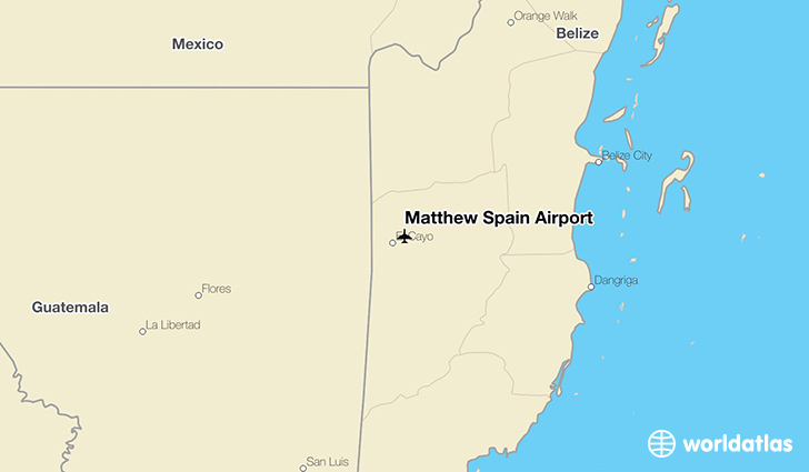 Matthew Spain Airport location on a map