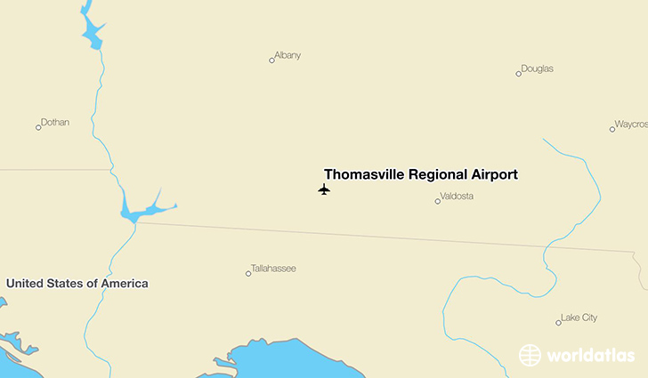 Thomasville Regional Airport location on a map