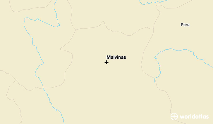 Malvinas location on a map