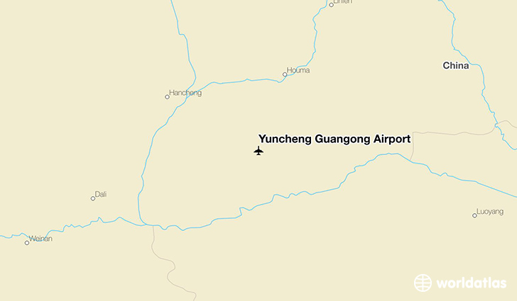 Yuncheng Guangong Airport location on a map
