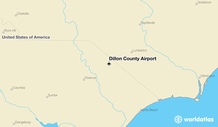 Dillon County Airport location on a map