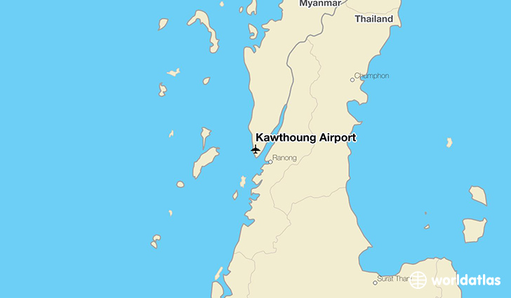 Kawthoung Airport location on a map