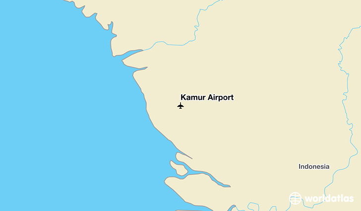 Kamur Airport location on a map
