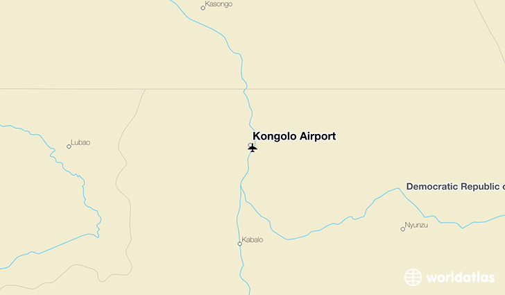 Kongolo Airport location on a map