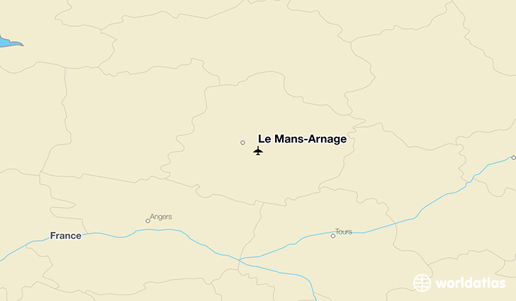 Le Mans-Arnage location on a map