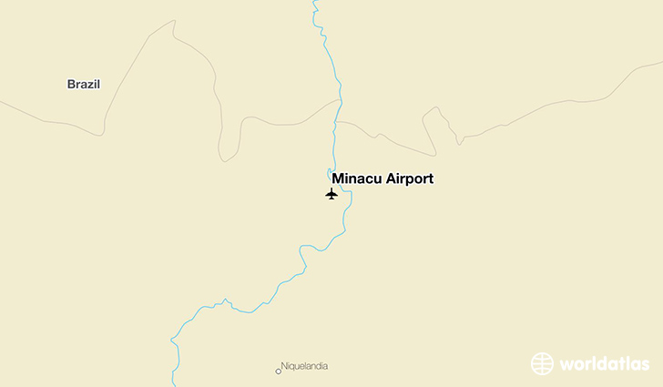Minaçu Airport location on a map